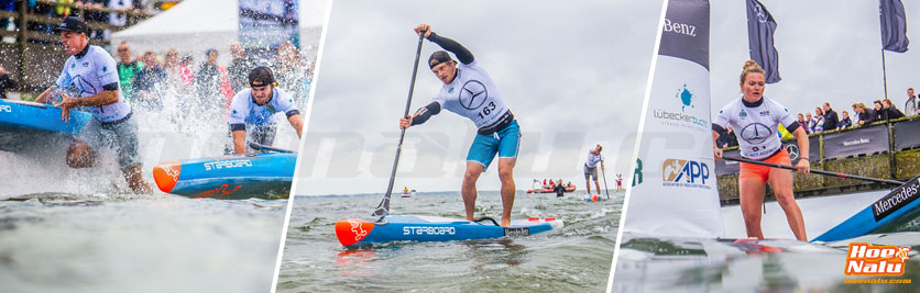 Una tabla de SUP race polivalente