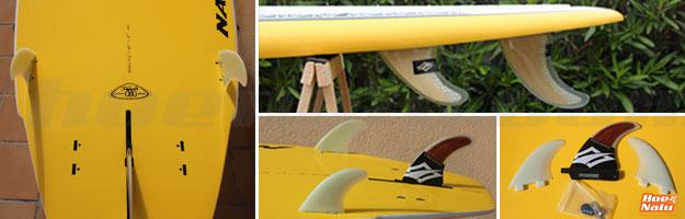 La configuración de 3 quillas es la más común en tablas Stand Up Paddle y de Surf