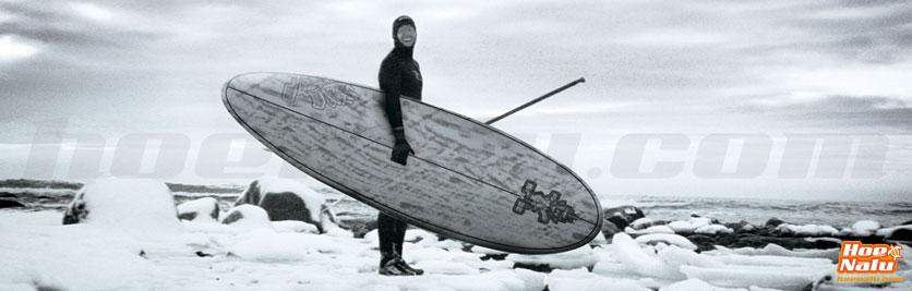 SUP entre el hielo con tablas Starboard