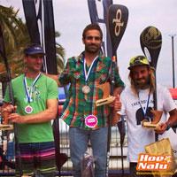 Pepe Oltra coronando un podium en SUP race