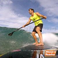 Pepe Oltra practicando SUP Surf para las beach race