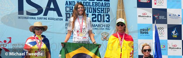 Podio de Competición de Olas SUP Surf Mujeres