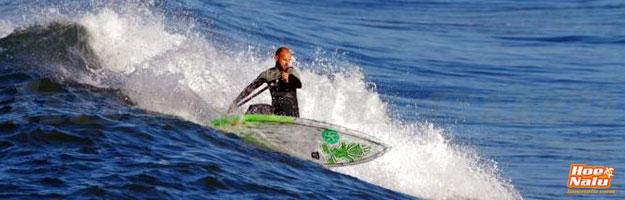 Oscar Ruiz en una sesión de Paddle Surf