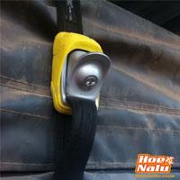Detalle cierre con llave de cinchas de seguridad Kanulock