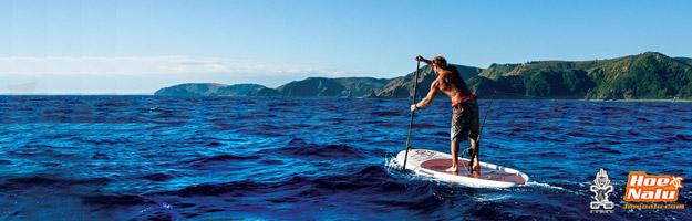Pescar en el mar con una tabla de SUP Starboard Fisherman