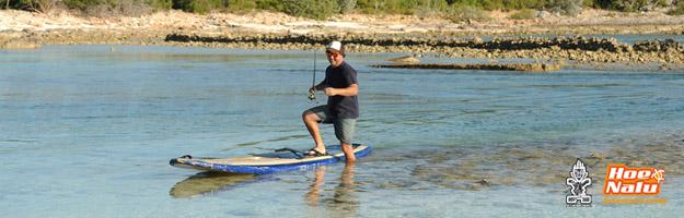 Ventajas de pescar encima de una tabla de Paddle Surf remando