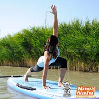 SUP Yoga una forma de hacer ejercicio y quemar calorías en una tabla de Stand Up Paddle