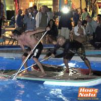 Foto de la primera competición de SUP Polo en la Costa Brava