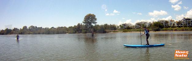 Remar en un Río, Travesías de SUP en un río