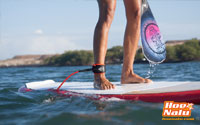 Recuerda usar tu leash o invento a la hora de coger olas