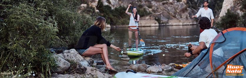 De acampada con tu tabla de SUP