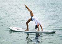 SUP Fitness, ejercicios sobre la tabla de SUP hinchable