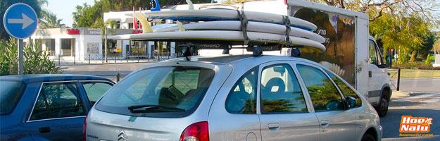 Cuidados al transportar las tablas en el coche