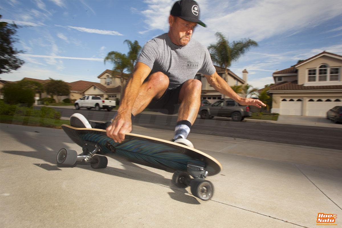 carver surfskate turning