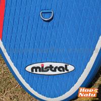 Detalle del tail y el pad de la Mistral SUP Adventure 10'5