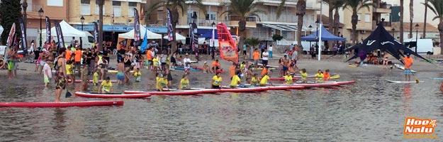 Competición de SUP categoría niños en España