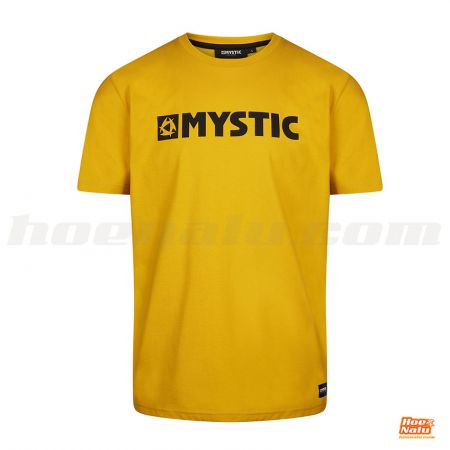 Mystic Brand Tee Mustard front