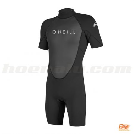 O'Neill Reactor-2 2mm Back Zip S/S Spring Black L front