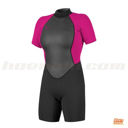 O'Neill Womens Reactor-2 2mm Back Zip S/S Spring Berry front