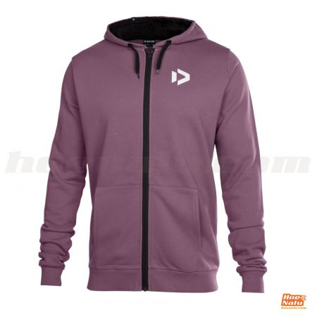Duotone Zip Hoody Logo Purple front