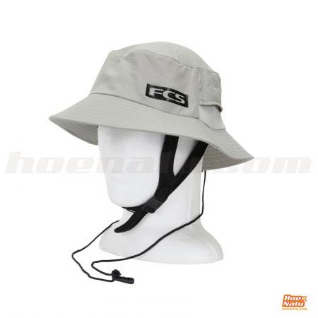 FCS Gorro Essential Surf Bucket Hat Light Grey MD