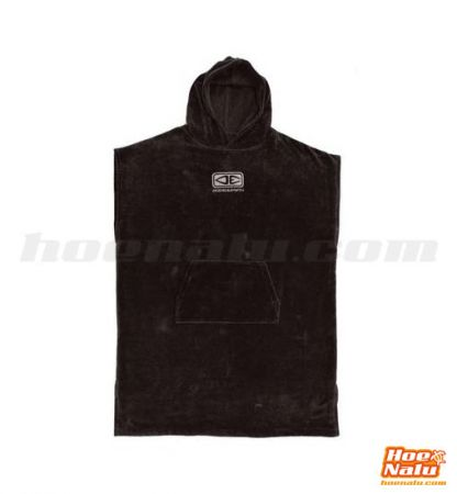Ocean & Earth One Mens Corp Hooded Poncho  Negro