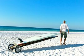SUPWheels® over soft sand with two boards