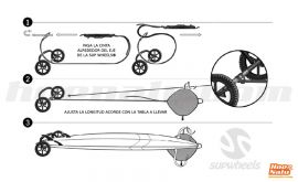 Strap Handle for SUPWheels®. Installation drawing