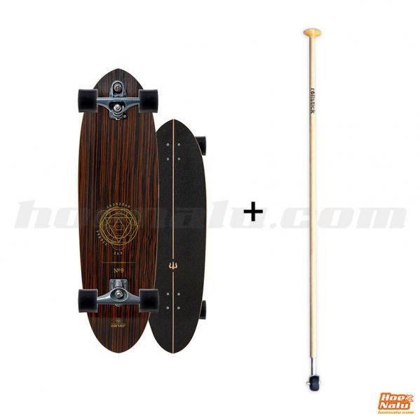 "Pack SurfSkate Carver 35"" Headron Nº9 + Rollstick Madera"