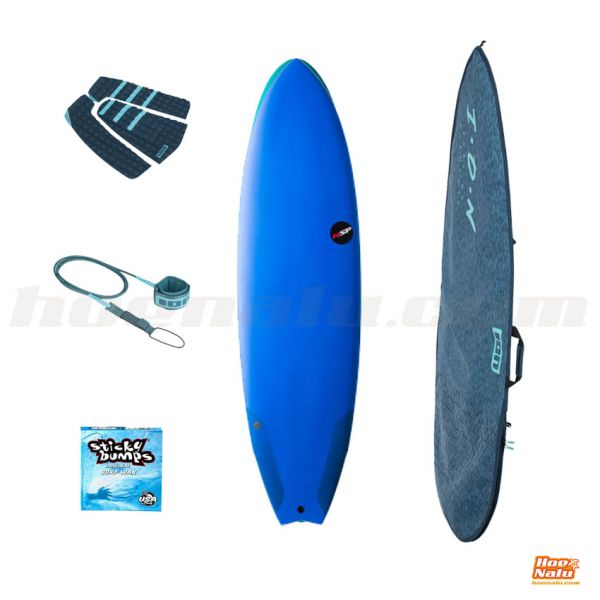 Pack NSP Surfboard Protech Fish 6'4 Blue