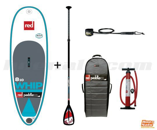 "Pack Red Paddle Co The Whip 8'10""x29"" RSS 2017"