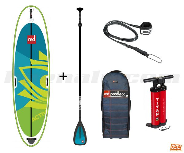 Pack Red Paddle Co Activ includes paddle and leash